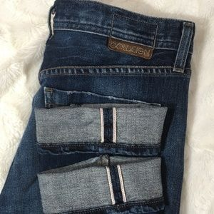 Goldsign J Crew Jenny Selvedge Cuffed Jeans